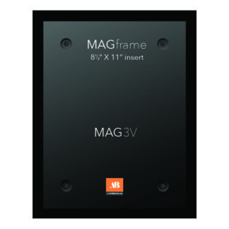 Letter size vertical MAG Frame - Black - Multimedia