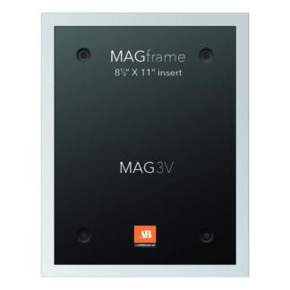 Letter size vertical MAG Frame - Silver - Multimedia