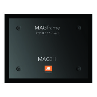 Letter size horizontal MAG Frame - Black - Product design