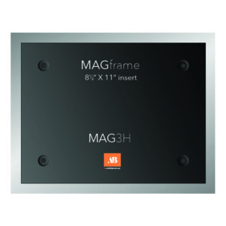 Letter size horizontal MAG Frame - Silver - Product design