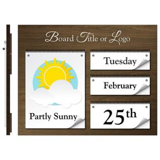 Date & Weather Board - Weather