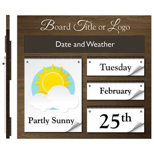 weather board with title header