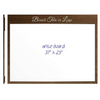 "Large 36"" x 24"" Magnetic Whiteboard - Dry Wipe Board"