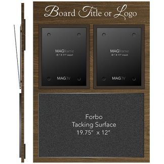 """Twin Portrait Letter MAGFrames and a 12"""" x 19¾"""" Forbo Tacking Surface - Meter"""