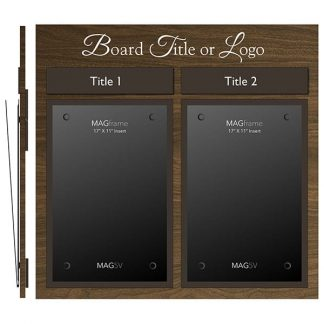 Twin Portrait Tabloid MAGFrames with Frame and Titles - Meter