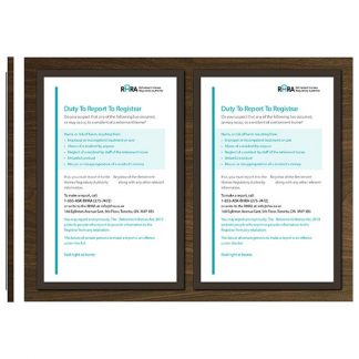Two Tabloid TABFrames (for displaying Ontario RHRA regulatory posters) - Meter
