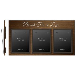 Triple Portrait Letter MAGFrames with Board Title - Bulletin Board