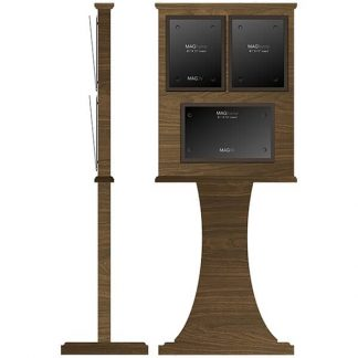 """Double MAGFrame Floor Stand with Horizontal 8½"""" x 14"""" Weekly Calendar Frame - Dry Wipe Board"""