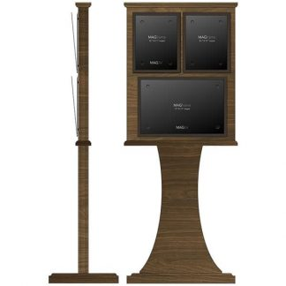"""Double Frame Floor Stand with Horizontal 11"""" x 17"""" Weekly Calendar Frame - Bulletin Board"""