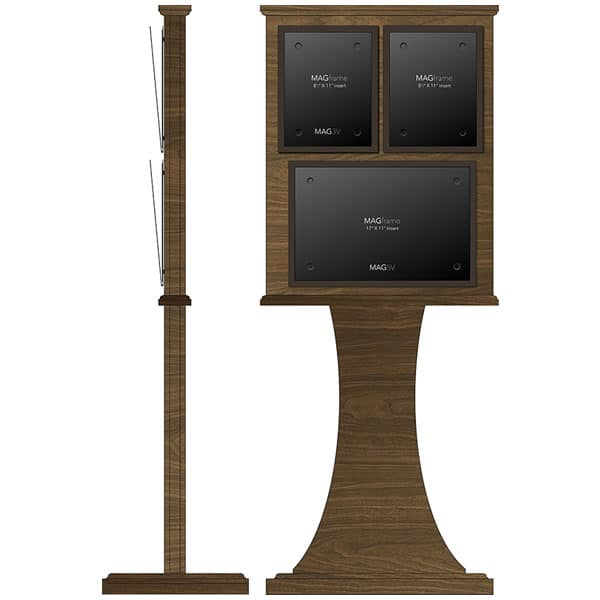 Double Frame Floor Stand with Horizontal 11\