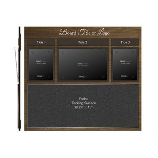 Triple Portrait Letter MAGFrames with Titles and One Large Tacking Surface - Dining room