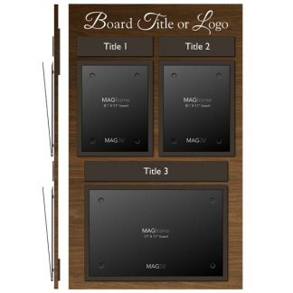 Double Portrait Letter MAGFrame with Landscape Tabloid MAGFrame - Product design