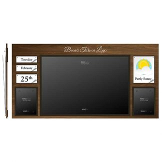 """Date & Weather Board with a Single 24"""" x 36"""" MAGFrame and Double Portrait Letter MAGFrames - Weather"""
