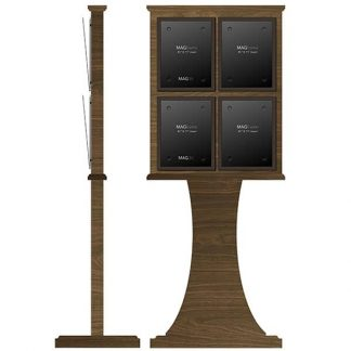 Freestanding Stand with Four Portrait Letter MAGFrames - Dry Wipe Board