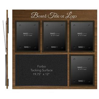 Four Portrait Letter MAGFrames and One Large Tacking Surface - Product design