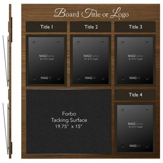 Four Portrait Letter MAGFrames and One Large Tacking Surface with Titles - Multimedia
