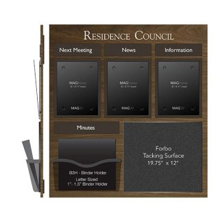 Three Portrait Letter MAGFrames and Holder with Tacking Surface - Bulletin Board