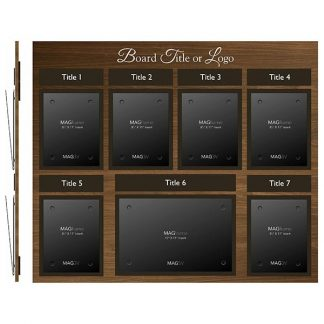 Six Portrait Letter MAGFrames with One Landscape Tabloid MAGFrame with Titles - Product design